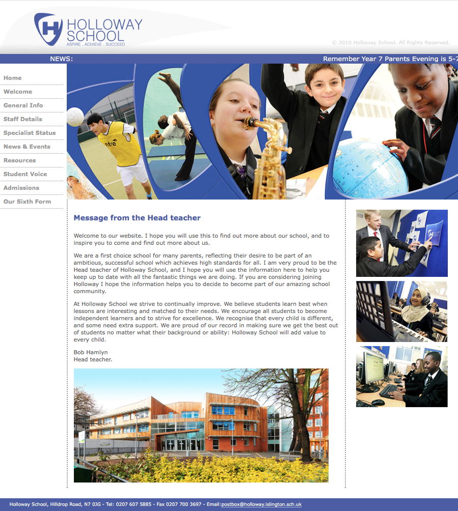 Holloway School Website