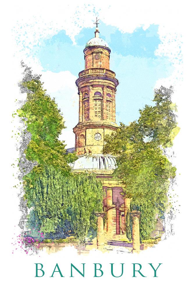Banburyshire Illustration of St.Marys Church