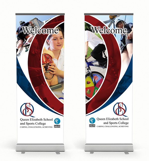 Queen Elizabeth School Banners